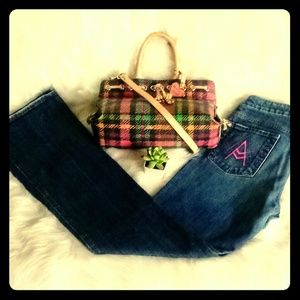 """7 for all mankind Pink """"A"""" Pocket Liberty Jeans"""